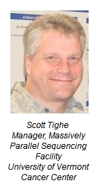 scott tighe manager massively parallel sequencingt facility university of vermont cancer center