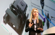 Theranos CEO Elizabeth Holmes speaks at the AACC 2016 meeting