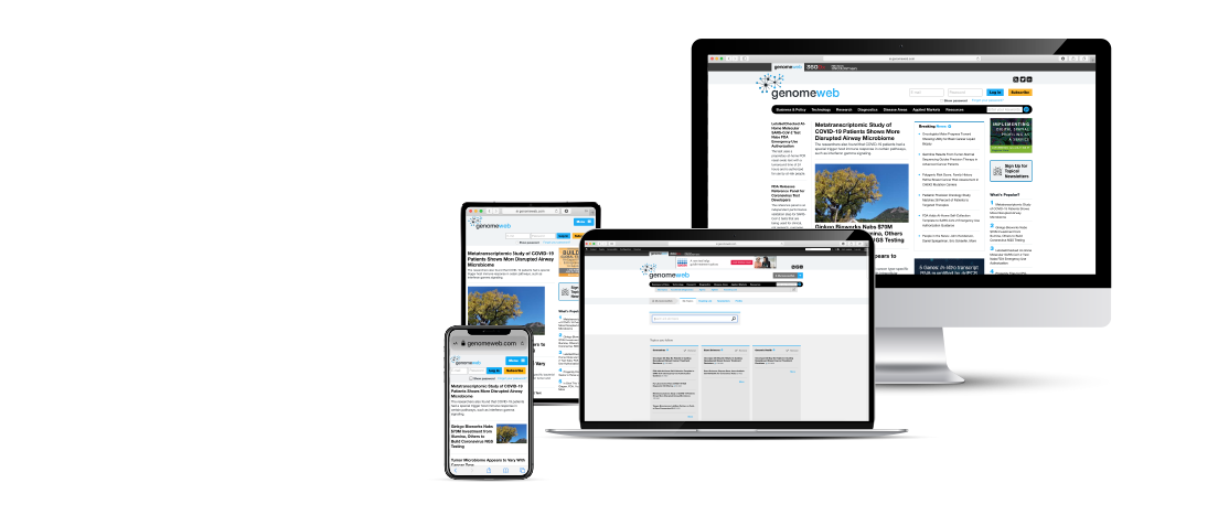 The My Topics page displayed across mobile, tablet, small and large desktop screens.