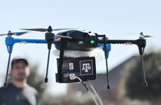 The lab-on-a-drone in flight.